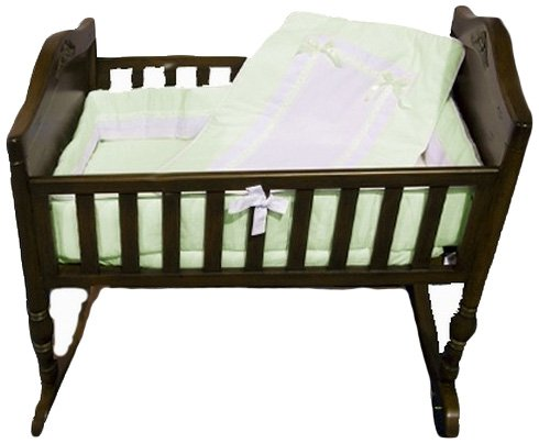 Baby Doll Royal Cradle Bedding Set, Mint - 1