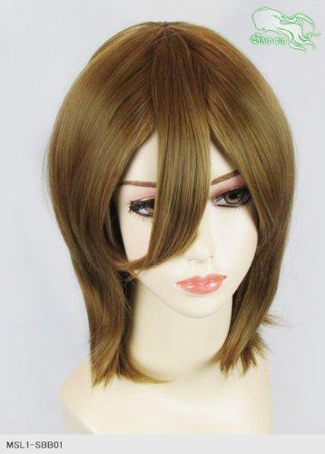 スキップウィッグ 魅せる シャープ 小顔に特化したコスプレアレンジウィッグ シャイニーミディ カプチーノ