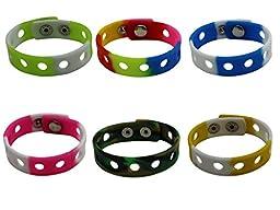 6 Pcs Adjustable Jibbitz Croc Wrist Bracelet Band for Shoe Charms