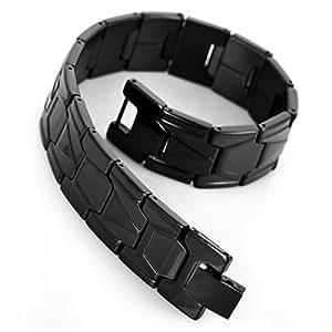 MunkiMix Acier Inoxydable Bracelet Lien Poignet Noir Classique Homme