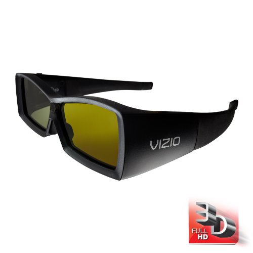 VIZIO VSG102 Full HD 3D Rechargeable Glasses, Black (2 Pack)