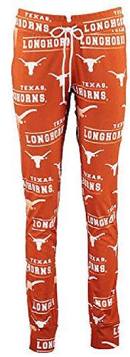 Ladies Texas Longhorns NCAA Orange Fusion Pajama Pants by