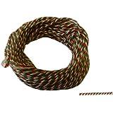 Siegelkordel 1 mm rot-weiß-grün Preis für 10 Meter