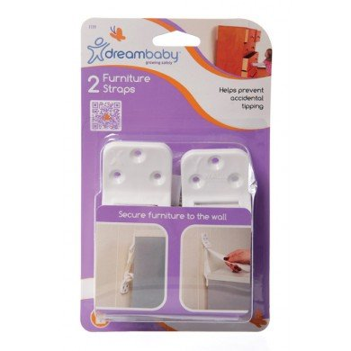 Dreambaby Furniture Straps, White - 4 Pack