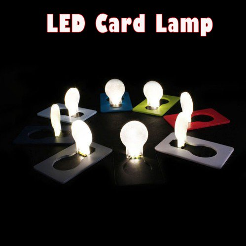 Hkbayi 10Pcs / 10 X Mini Led Light Credit Card Portable Led Card Pocket Light Bulb Lamp Christmas Card Switch Card Sharp Led Light Bulb