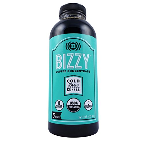 Bizzy Cold Brew Coffee Concentrate - 6 Servings - USDA Organic