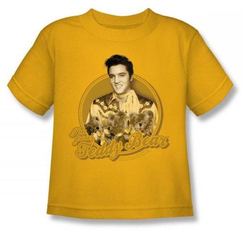 Elvis - Teddy Bear Juvee T-Shirt In Gold, Size: