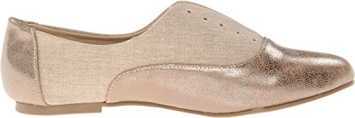 pictures of Dirty Laundry Women's Off The Wall Synthetic Boat Shoe,Tan/Champagne,6.5 M US