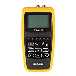 SATlink WS-6923 Digital Satellite Signal Finder, Support DISEQC 1.0/1.1 ,0/22khz Tone, Black
