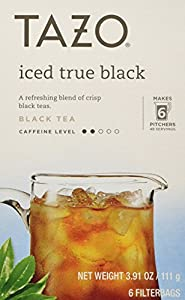Tazo Iced True Black Filtered Tea - 6 Bags Per Box (Pack of 4) by Tazo