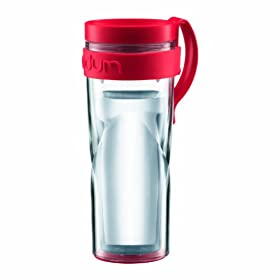 8eebffb0d7b Bodum H2O Travel Mug with Clip Handle, 15 oz., Red: Kitchen & Dining