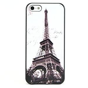 A-discovery Coque pour iPhone 5/5S Timbre Tour Eiffel