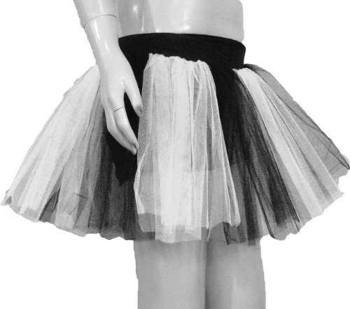 Uv Neon White 2 Tone Tutu Skirt Dance Fancy Costume Dress Party Free Shipping