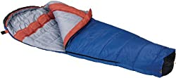 Wenzel Santa Fe 20-Degree Mummy Sleeping Bag (Blue/Orange)