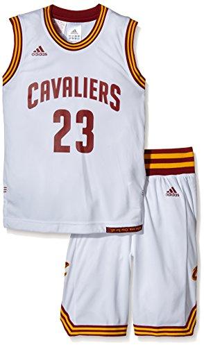 Adidas Completo Basket Nba Cavaliers Lebron James Bianco 13/14