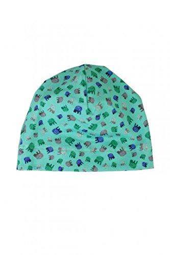 fashion4MINIS Jerseymütze Elefanten biscay green, Kopfumfang:49-55 cm