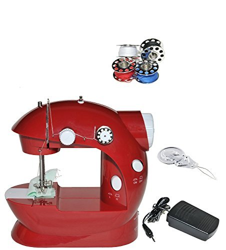 SmartCare SC-08 Mini cordless Sewing Machine with Pedal Red Light and Compact (Travel Sewing Machine compare prices)