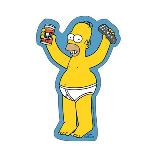 Amazon.com: The Simpsons - Homer In Underwear - Sticker / Decal