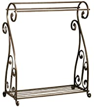 Aged Bronze Scrolled Metal Quilt Rack…