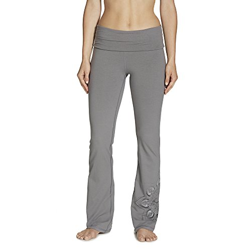 Gaiam Women's Nova Bootcut Pant, Steel, X-Large