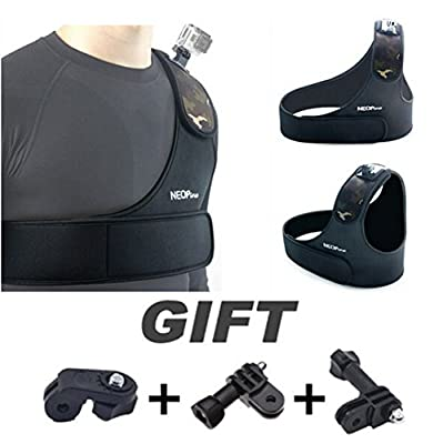 Adjustable Shoulder Chest Strap Belt Base Mount for Sport Camera