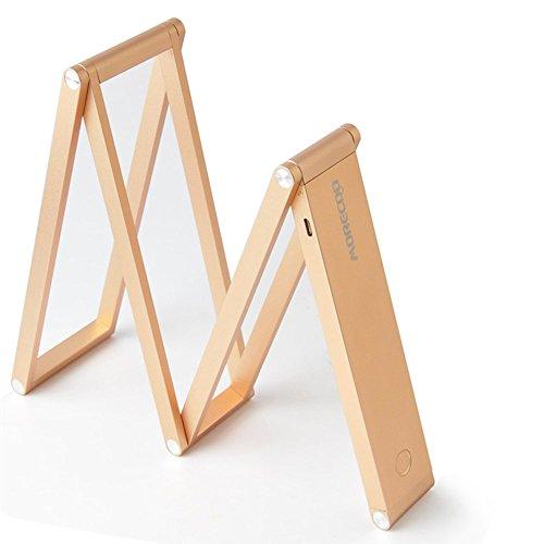 Morecoo LED デスクライト USB充電 2段階調光 省エネ トランスフォーマーデスクライト 自由な形に調節可能 (ゴールデン)