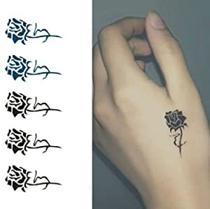 Amazon.com : Mini Rose Picture Tattoo Temporary Stickers SZ-17