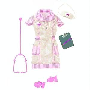 Amazon.com: Barbie Fashion Doll Career Clothes - Nurse: Toys & Games
