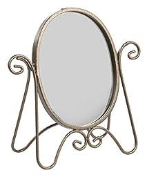 Displays2go Tabletop Vanity Mirror, Chocolate Finish, Set of 6