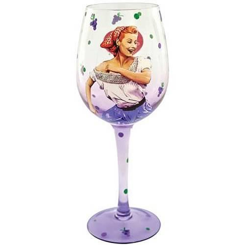 I Love Lucy Grape Stomping 15-ounce Wine Glass