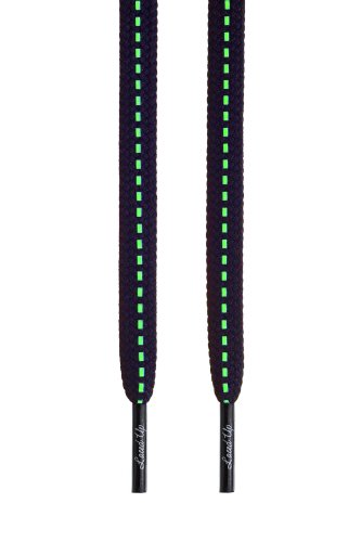 Laced Up Laces Glow in the Dark Shoelaces- White   Black in 2 Sizes 92b146586