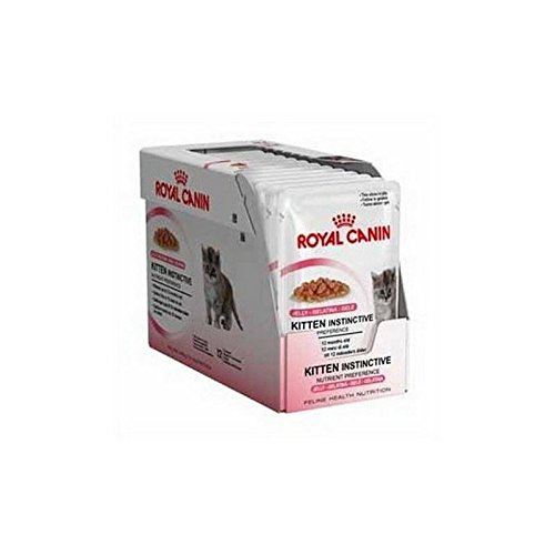 Royal Canin Instinctive Kitten Food Jelly Pouch 12 x 85g (850g) (Pack of 4) (Jelly Fish Food compare prices)
