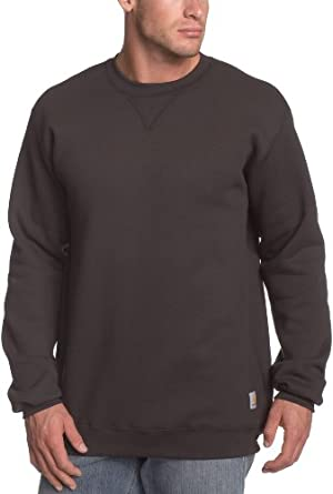 Carhartt Men's  MW Crewneck Sweatshirt, Black, Small
