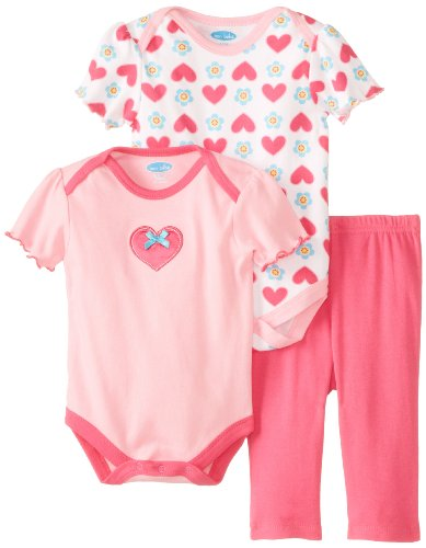 Bon Bebe Baby-Girls Newborn Hearts And Flowers 3 Piece Legging Set, Multi, 3-6 Months front-1070153