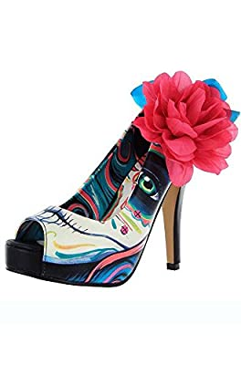 Iron Fist Ship Wrecker Platform Shoes - Turquoise