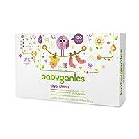 Babyganics Biodegradeable Dryer Sheets, Lavender, 120 count