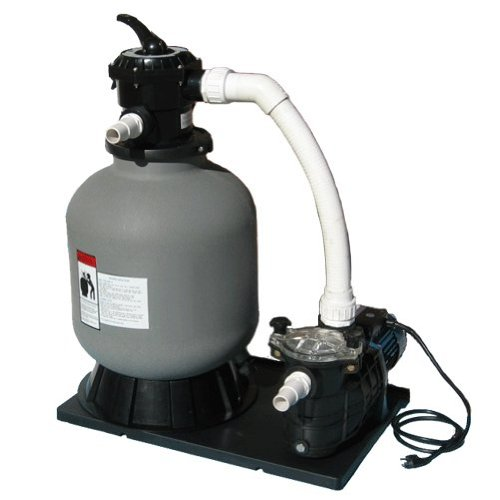 Sand Filter System Complete, 175lb Sand Filter with Energy Saving 1.5hp Pump
