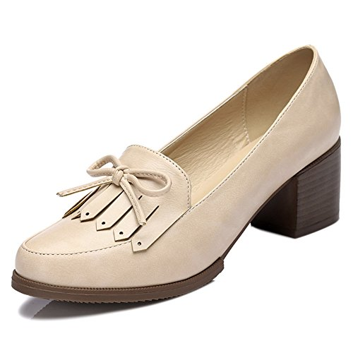 fanshionable-yasilaiya-womens-artificial-leather-round-mouth-fringe-bowknot-loafers