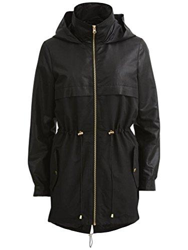 Vila - Primavera Zorina nero rivestito in giacca taglia M UK 12 EUR 40 USA 8
