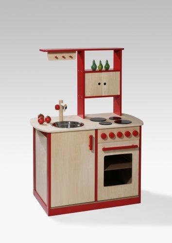 Kinderkueche Spielkueche Holz Weiss 2033 ~ Holz Frühstücks Set Obst Gemüse Küchenzubehör Kaufladen