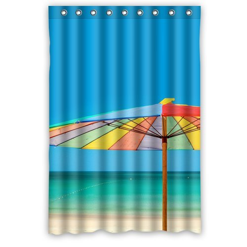 Custom Unique Design Beach Ocean Solarium Waterproof Fabric Shower Curtain, 72 By 48-Inch front-581997