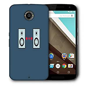 Snoogg Music Beats Printed Protective Phone Back Case Cover For LG Google Nexus 6