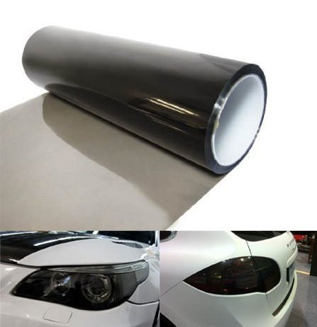 Aumo-mate Car 12 by 48 inches Self Adhesive Headlight Bumper Hood Paint Protection Film Vinyl Sheet Headlights, Tail Lights,Smoke Fog Lights Tint Vinyl Film Car Light HeadLight Sheet Car Sticker- Black (48inch Hood compare prices)