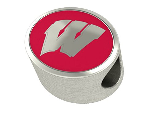 Wisconsin Badgers Charms Fit Most European Style Beaded Charm Bracelets