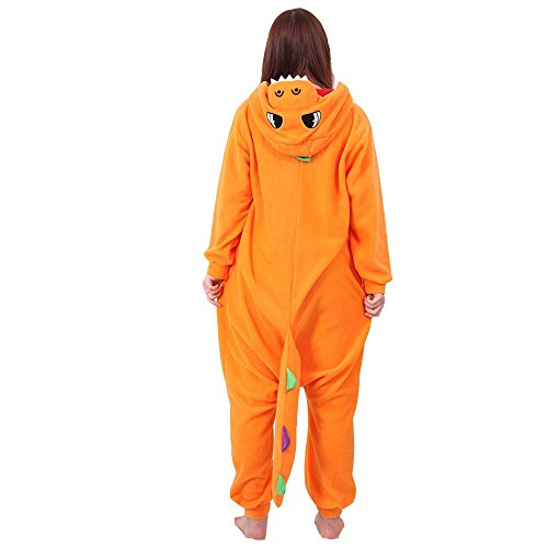 [XMiniLife Colorful Dragon Adult Halloween Kigurumi Onesie,Orange/XL] (Spyro The Dragon Halloween Costume)