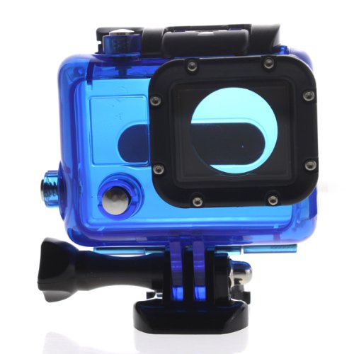 Carry360 Skeleton Protective Housing With Lens For Gopro Hero 3 Open Side For Fpv Without Cable(Color Blue)