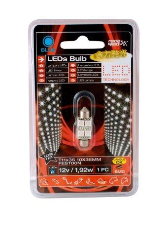 Sumex Lit473A Race Sport - Led Blu Smd, 12V, 3W Error Free C5W, 11X35 mm