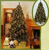 9.5' Pre-Lit Mixed Tip Cascade Artificial Christmas Tree Clear Lights #170621C