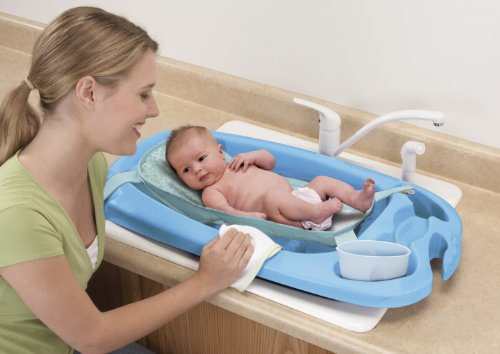 Safety 1St 3-In-1 Cradle And Comfort Tub, Blue front-1021156