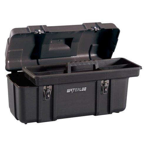 Waterloo Pp-2009Bk Portable Series Plastic Tool Box With Tote, 20-Inch, Black